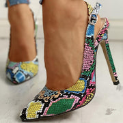 Snakeskin Summer Animal Print Holiday Artificial Leather Sandals