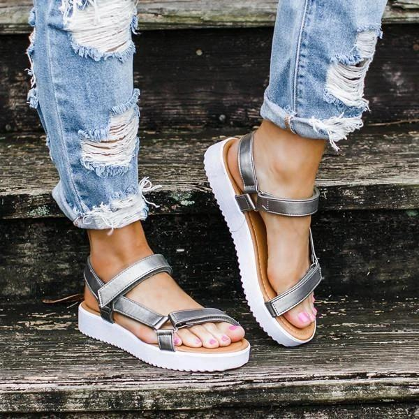 Women Summer Casual Magic Tape Sandals
