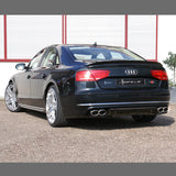 Audi A8 D4 Rear Apron Diffusor RS8 Look Conversion