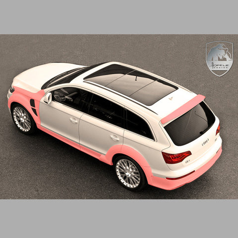 Audi Q7 Wide Body Wheel Arch Extension Kit STRATOR by Hofele for the Hofele STRATOR Front Bumper HF 7971