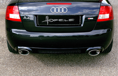 Audi A4 Cabriolet RS4 Rear Apron with Exhaust Tips by Hofele