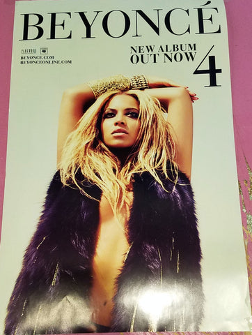 Beyonce - 4 - OFFICIAL 2-sided Promo Poster