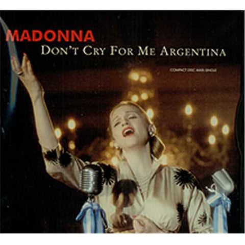 Don't Cry For Me Argentina - CD Maxi (Used in VG++condition)