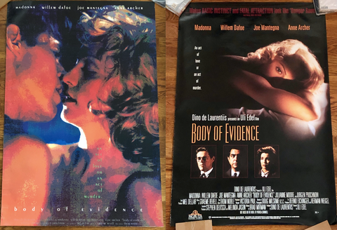 Madonna - 1993 Body of Evidence Movie Poster LOT - Print 27x40 Used borderline MUSIC