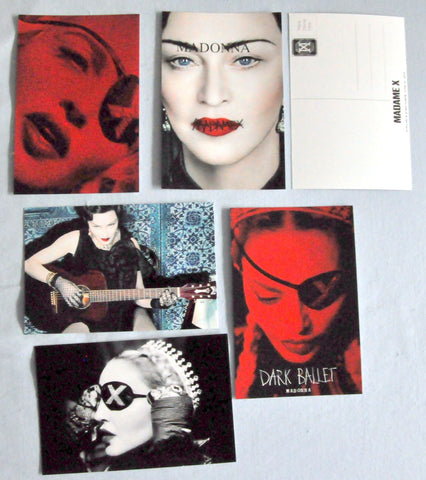 Madonna - set of 5 MADAME X promo postcards set #2