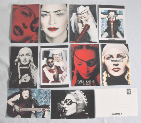 Madonna - Madame X complete set of all 10 postcards.