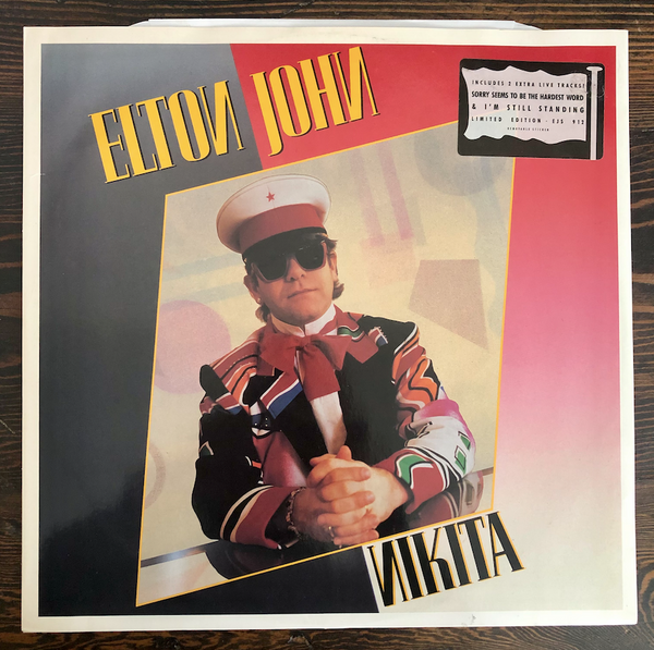 "Elton John - Nikita: Extended Version b/w sorry seems to be the Hardest Word, I'm Still Standing - 1985 - 12"" USED Lp Vinyl"