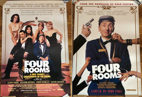 Madonna - 1995 Four Rooms Original Movie 2 Posters LOT - Print 27x40