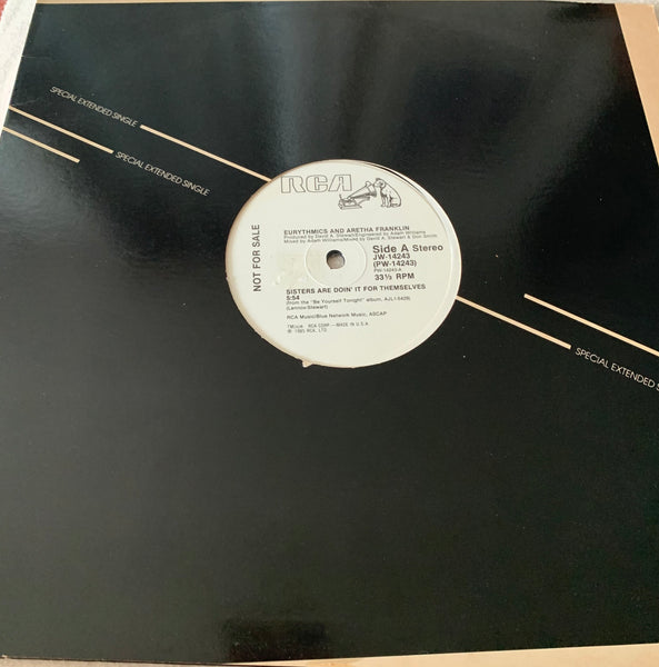 "Eurythmics + Aretha Franklin - Sisters are doin' it for themselves - Promo 12"" LP Vinyl - Used"