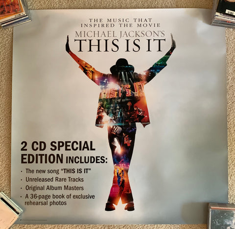 Micheal Jackson - This Is It -- Promotional Large Print/poster 3x3 ft