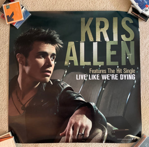 Kris Allen -  official Large Promotional Print/poster - 3x3 ft