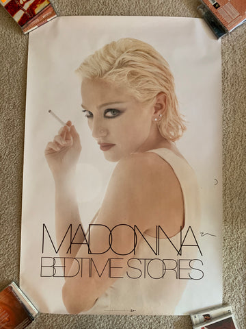 "Madonna - Bedtime Stories '95 Official promo poster 24x36"" - used / small tear"