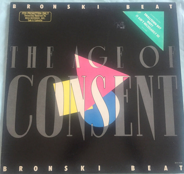 Bronski Beat - The Age Of Consent (Original LP VINYL) Used