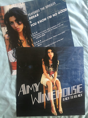 "Amy Winehouse - Official Promotional Poster Flat ""Back To Black"""