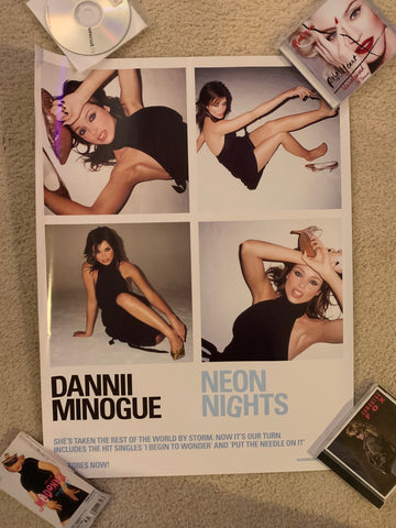 Dannii Minogue - Official promo large poster Neon Nights