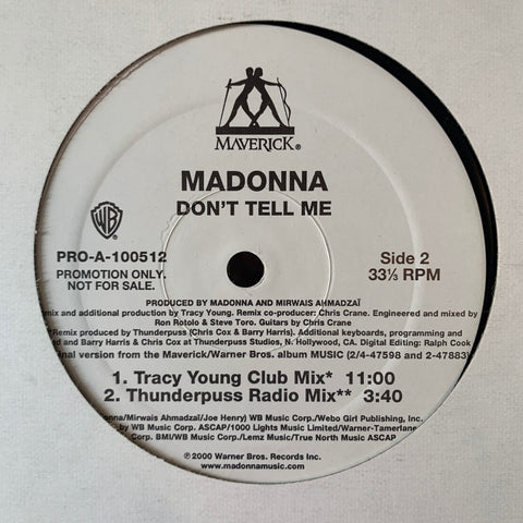 "Madonna - Don't Tell Me (PROMO 12"" LP VINYL )"