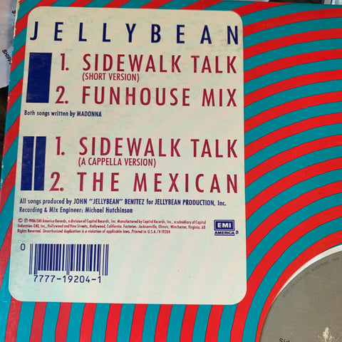 "Jellybean ft: Madonna - Sidewalk Talk 12"" used"