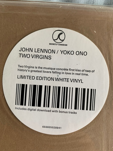 John Lennon / Yoko One - Two Virgins (WHITE VINYL) New