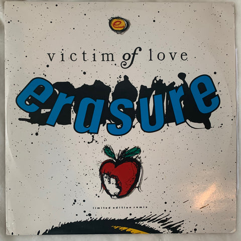 "Erasure - VICTIM OF LOVE (Limited Edition Remix)  Import 12"" LP VInyl - Used"