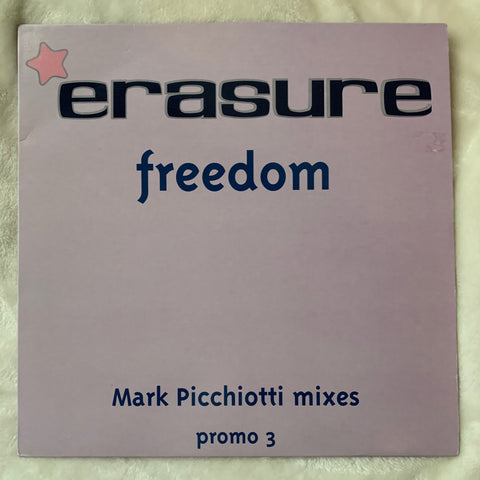"Erasure - FREEDOME (Mark Picchiotti Mixes) Promo 3 - 12"" LP VINYL - Used"