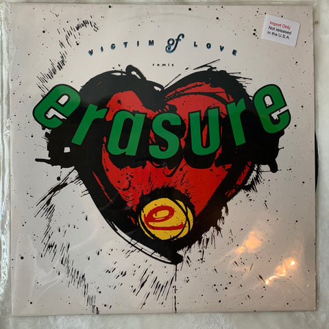 "Erasure - VICTIM OF LOVE (REMIX) UK 12"" Version LP Vinyl - Used"