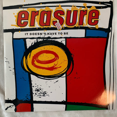 "Erasure - It Doesn't Have To Be (UK Version) 12"" LP Vinyl - Used"