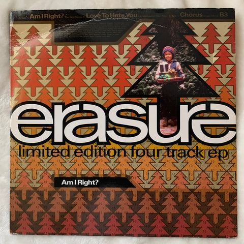 "Erasure - Am I Right? (US 12"" LP Vinyl) Limited Edition 4 track E) Used"