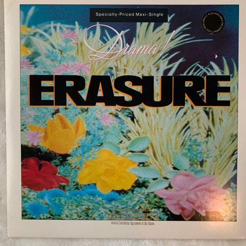 "Erasure = DRAMA! (Promo version) 12"" LP Vinyl - used"