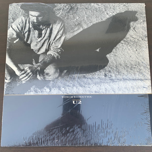 "U2 - With Or Without You 12"" LP VINYL _ used like new"