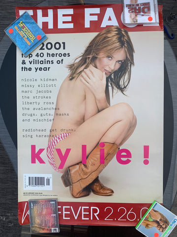 Kylie Minogue  - THE FACE Large  Poster  24x36 used