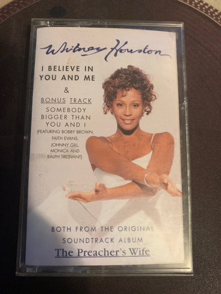Whitney Houston - I Believe In You and Me (Cassette single) Used