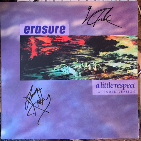 "Erasure - A Little Respect 12""  Vinyl Autographed!!!"