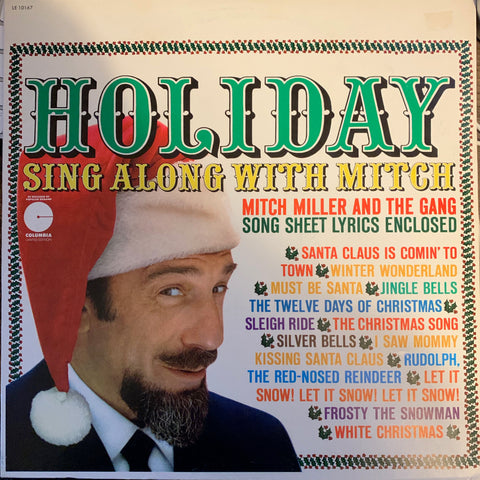 Holiday sing along with MITCH - Christmas Vinyl - Used
