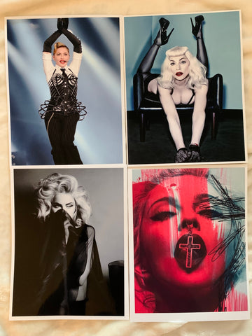 Madonna - 4 glossy high quality photo prints 8x11