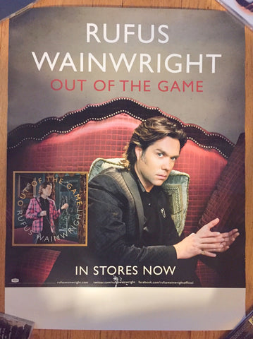 Rufus Wainwright - Out of the Game - Promo Poster
