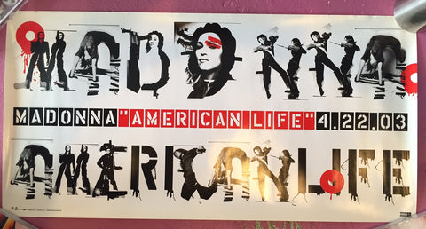 Madonna - American Life promo poster 12x24