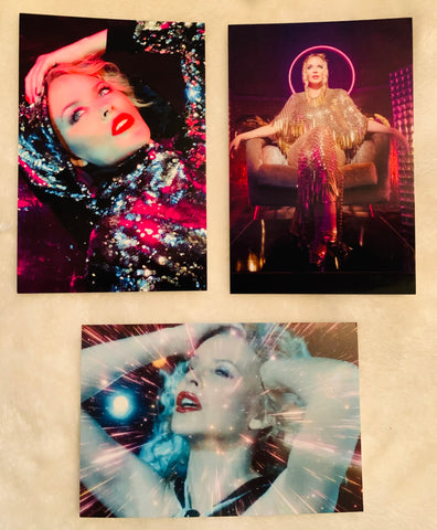 Kylie Minogue - 3 DISCO post cards promotional