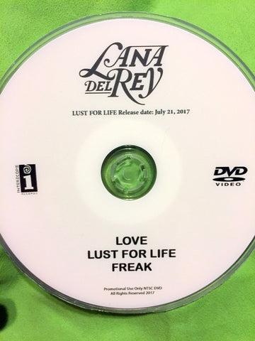 LANA DEL REY - DVD music videos: LUST FOR LIFE, LOVE, FREAK