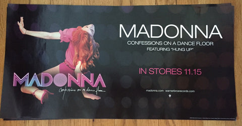 Madonna - PROMO POSTER Confessions On A Dancefloor.