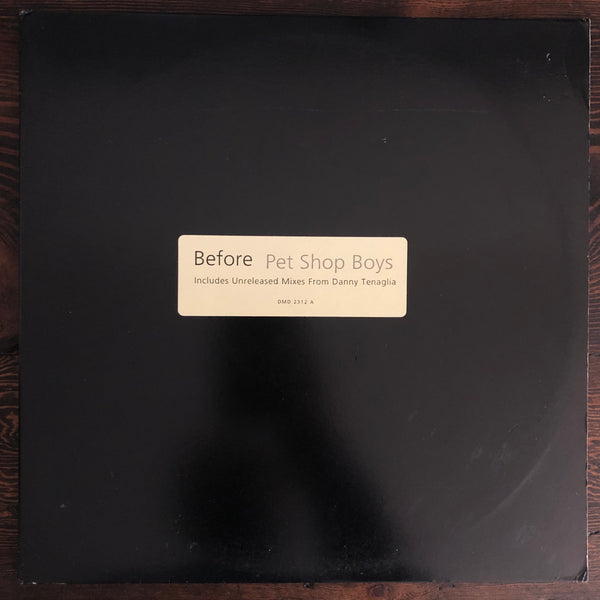 "Pet Shop Boys ‎- Before - USED DBL 12"" LP Vinyl PROMO"