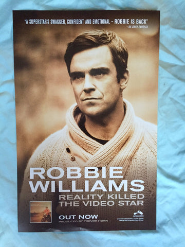 Robbie Williams - Promotional Poster Reality Killed the Video Star