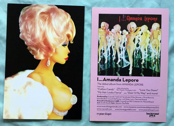 Amanda Lepore - set of 2 official postcards