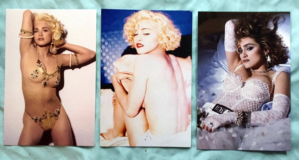 Madonna set of 3 Iconic postcards (Virgin, Express yourself, Erotica)