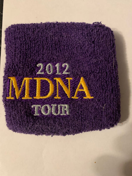 Madonna -MDNA TOUR cotton wrist band 2012- Blue