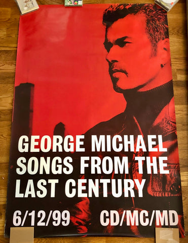 George Michael - 1999 Songs From The Last Century  LARGE promo poster-  40x60