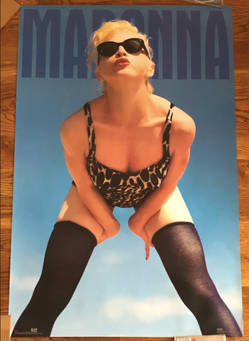 MADONNA - 1994 Bedtime Stories Era Poster - Winterland Productions Rare - 23X35 Borderline MUSIC