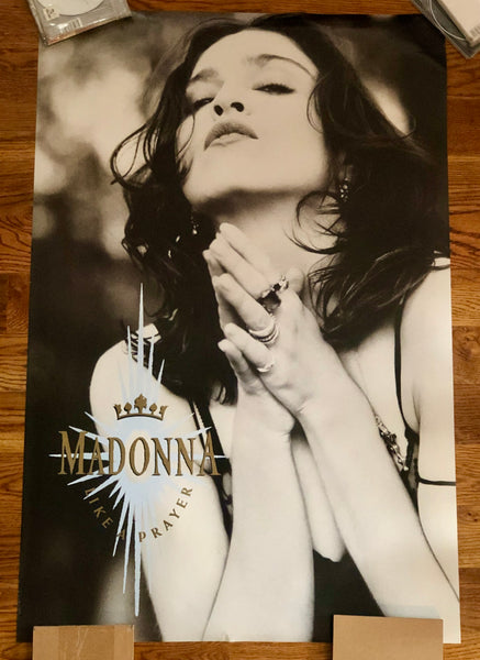 MADONNA - Like a Prayer 1989 Promotional Poster - Rare - 23X3