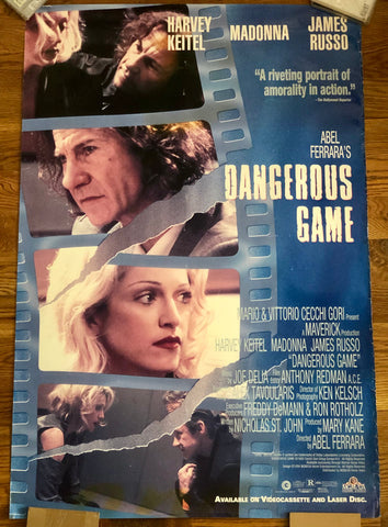 Madonna - 1993 Dangerous Games - Original Movie Poster - Print 27x40