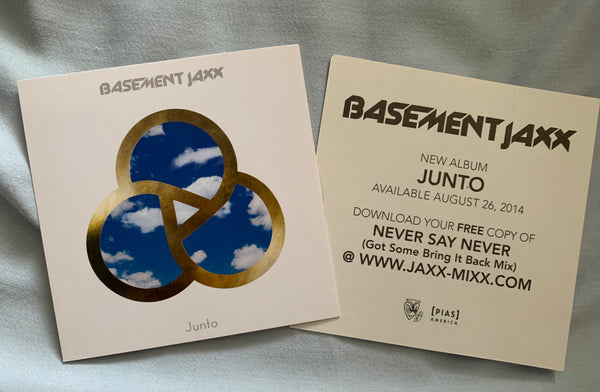Basement Jaxx - 2 JUNTO promotional stickers