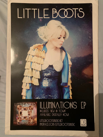Little Boots - Promo poster 11x17 Illuminations debut album - New